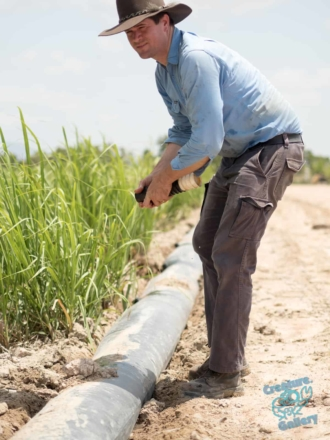 Man with irrigation