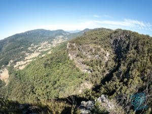 Lookout over Springbrook, inland from the Gold Coast