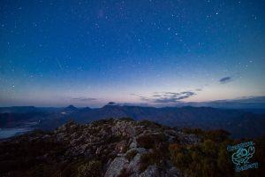 Starry sky over New South Wales border