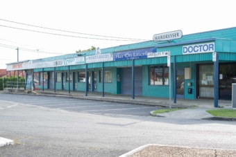 Row of closed shops